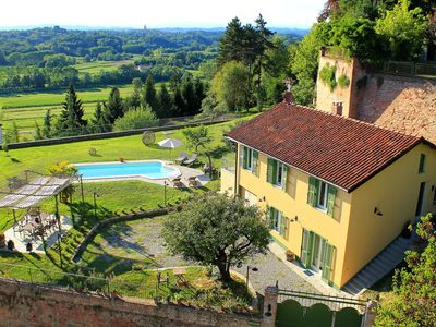 Photo for The bonanza of Don Bosco. Country house in panoramic Monferrato. 8 people
