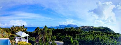 Panoramic view from the deck.