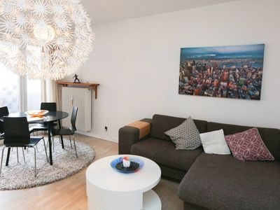 Photo for Bright apartment with balcony in the city centre