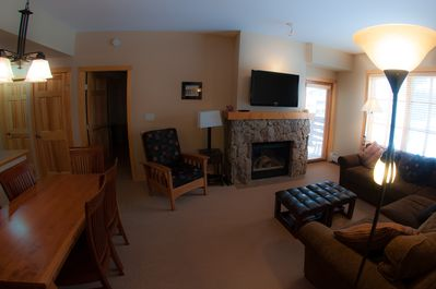Living Room and Dining Area; Features: Flat screen TV, DVD player,sectional sofa