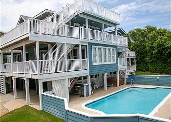Photo for ONLY 370 feet to beach access! HUGE LOADED home! Private Pool, Hot Tub, Game room with Pool Table!