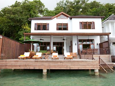 Photo for Waterfront Luxury! Fully staffed! Blue Lagoon! Luxury all the way!Avalon