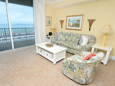 Photo for Spacious + inviting condo ! Free beach service! Fitness center with Roman spa on-site!