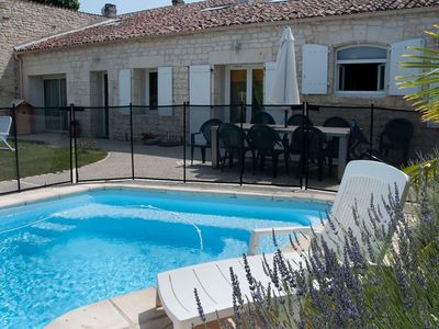 Photo for Stone house with private heated swimming pool