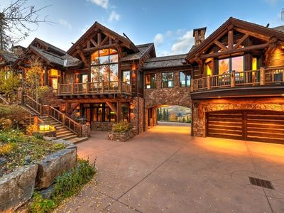 Photo for Ski-in/Out Luxury Home with Panoramic Views, Private Hot Tub, Game Room: Dancing Bear