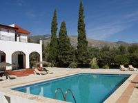 A big and practical house with big swimming pool surrounded by olive and lemon trees.