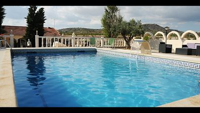 Photo for Beautiful three bedroomed private villa with pool and scenic mountain views