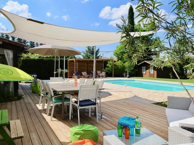 Photo for Charming Provencal Villa near CANNES Castle View with Private Pool