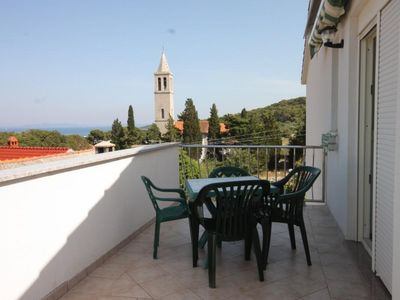 Photo for Studio flat with terrace and sea view Božava, Dugi otok (AS-8100-a)