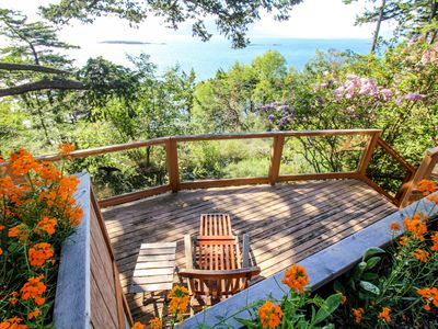 Photo for Beautiful waterfront house w/ glorious bay views & entertainment - beach nearby!