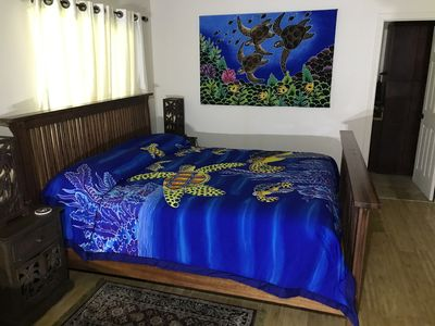 Indonesian bedspread and picture