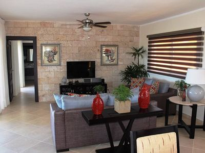 Photo for Hilltop Serenity model villa 2-bdrm/2-bath. The 11,000 gal pool has shallow sunbed ledge for lounging or ample pool deck. BBQ, Internet. Safe and Television on both bedrooms.