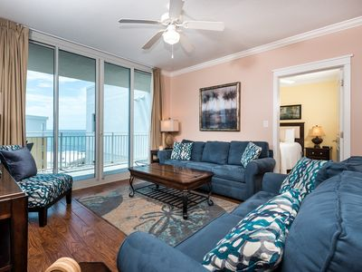 Photo for Beachy gulf-front condo at Waterscape! Washer/dryer in-unit! 490 feet of pristine, private beach!