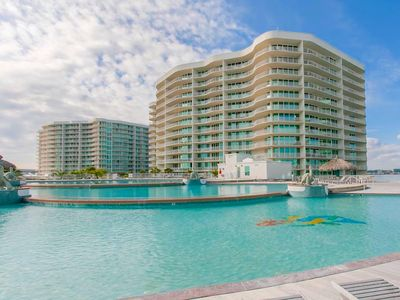 Photo for Caribe Resort C514: Luxury Condo, Lazy River, Pool Slides, Stunning Gulf Views!