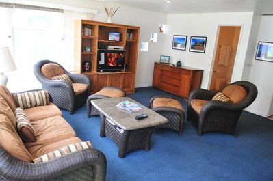 Living room and entertainment center