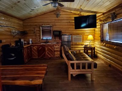 Photo for Newly built Log Cabin in our family retreat on Lake Hamilton