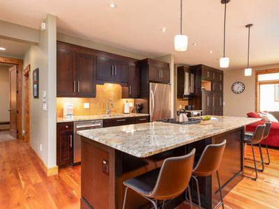 Photo for Modern One Floor Condo   Classic Luxury   Private Garage   Ski Slope Views