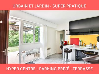 Photo for Almost Basque: terrace ★ parking ★ hypercentre Authentic, atypical and super convenient