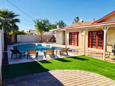 Photo for Old Town! - Sleeps 24 w/ 13beds! + Pool + Fire Pit + BBQ+ Shopping
