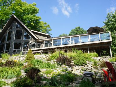 Photo for Our gorgeous cottage with Western exposure on Moose Lake awaits you!!