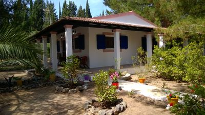 Photo for Wonderful Villa with amazing garden - 3 bedrooms on the beach in Corfu