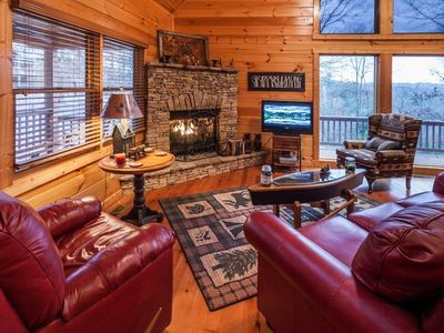 Photo for At Paradise Too, custom floor to ceiling windows give way to splendid views of the Cohutta Wildernes