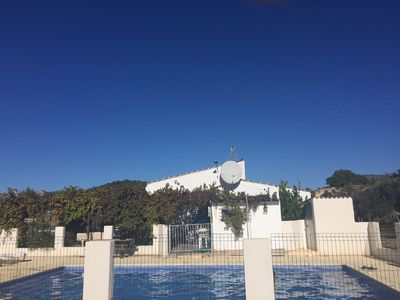 Photo for PEACEFUL COUNTRY VILLA SAX ALICANTE. SURROUNDED BY OLIVE GROVES AND FRUIT TREES.