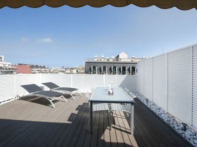 Photo for Lovely Penthouse Studio Apartment with big terrace in the city center - B122