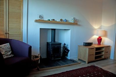 Sitting Room with stove