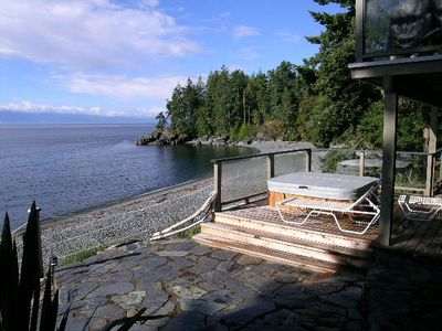 Photo for Driftwood Beach House, Beachfront Home, Hot Tub, Family Friendly, easy access