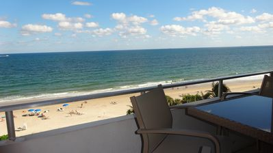 Luxurious 2BR/2Bath Condo looks Directly over Ocean Pool Beach Fort Lauderdale
