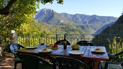 Photo for Mountain cottage with great views in friendly village with restaurant.