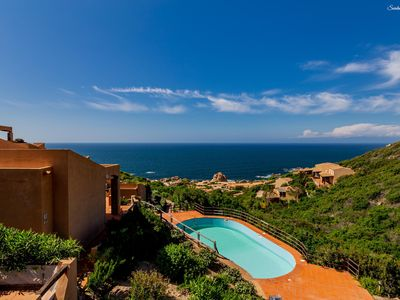 Photo for Villetta Rosada:  seaview and a shared pool