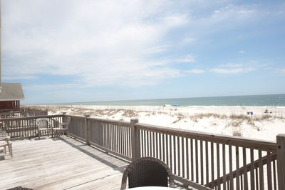 Your view from the deck!  Steps to the beach!