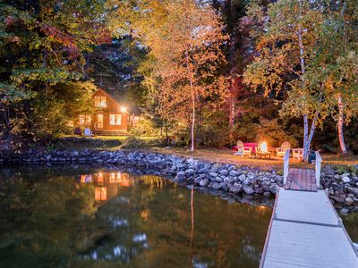 Photo for Classic and adorable Maine camp on North Pond in the Belgrade Lakes