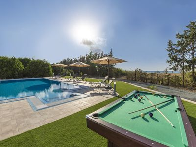 Photo for Villa Ammoyiali on the Beach -  a large modern villa that sleeps 8 guests in 4 bedrooms