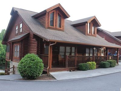 Photo for Family Cabin, Pools, Game Room, Hot tub, 0.5 mile to Parkway