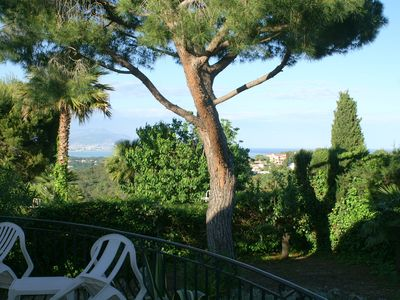 Photo for ANTIBES Villa La Libellulle 140m² on ground 1500m² - 3 bedrooms - Sea View