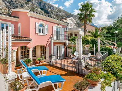 Photo for Bayside villa on the first line of the Kotor Bay waterfront with private pool