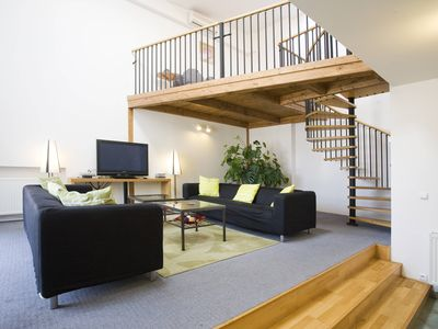 Photo for Wenceslas Attic IV apartment in Nove Mesto with WiFi, integrated air conditioning, private parking …