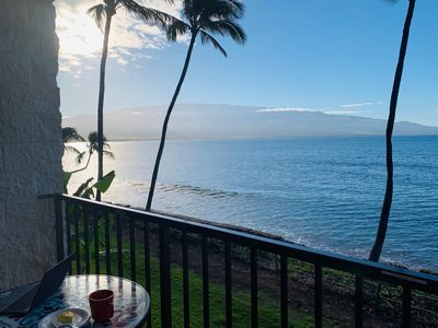 Gorgeous views of Haleakala crater, right from the lanai.