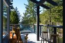 Enjoy the views from the covered section of the deck in all weather