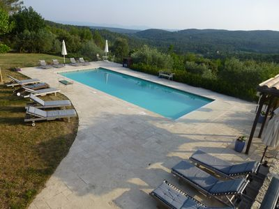 Pool terrace with its stunning views in total seclusion