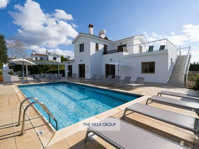 Photo for Pegeia Villa, Sleeps 14 with Pool, Air Con and WiFi
