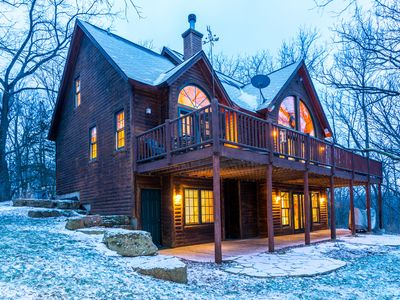 Photo for Striking 4 Bd/3.5 Ba, Incredible Wooded Views, Fireplace, Pool Table, Fire Pit