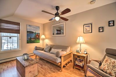 Unwind in the comfortable living area after your daily adventures.