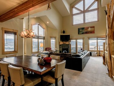 Photo for AMAZING Valley Views | Modern Decor | Private Porch Over River | Families Welcome!