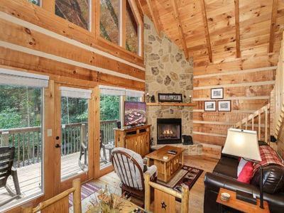 Photo for 2 BR,1.5 BA b/w Gatlinburg & Pigeon Forge near Dollywood SECLUDED!!!  Nature Lovers Getaway!