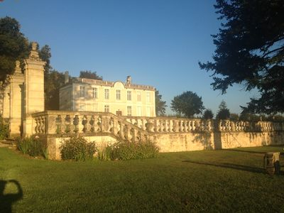 Chateau de Charras captured at sunrise