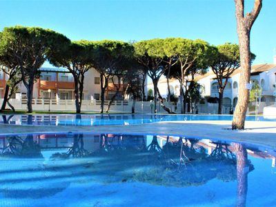 Photo for Modern Apartment Close to Beach with Pool, Balcony & Air Conditioning